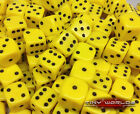 50 Six Sided Dice - 12mm Yellow - Wargaming D6 Warhammer Eldar Space Marines Tau