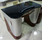 ALUMINUM BROWN MARBLE TOP HIGH END BEAUTY SALON/SPA NAIL MANICURE TABLE