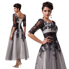 Lace A LINE XMAS Vintage Retro Women Formal Prom Party Evening Cocktail Dresses