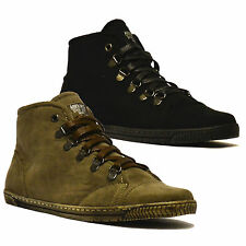 Ladies Womens Faux Suede Fur Lined Winter Ankle Hi Top Trainers Boots Shoes Size