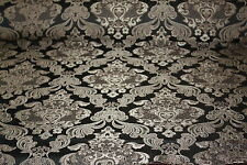ITALIAN DESIGN EMBROIDERED FAUX SILK DAMASK - CURTAINS-CUSHIONS UPHOLSTERY