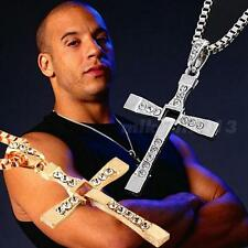New Unisex's Men Silver Stainless Steel Cross Pendant Necklace Chain gold
