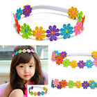 Beauty Baby Child Girl Colorful Flowers Hair band Lace Sunflower Band Headband