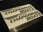 "Chaparral Boats Vintage Silver Metallic Decal 12"" Stickers (Pair)"