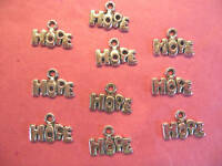 "Tibetan Silver ""Hope"" Charms 10 per pack"