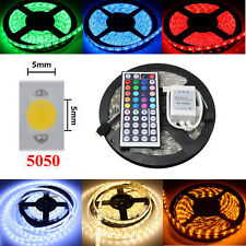 Waterproof 5M 5050 SMD RGB LED Strip Light Flexible Xmas Party Lamp Bombilla 12V