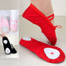 New Hot Cute Canvas Ballet Dance Fitness Shoes Toddler Girls Child 3 Colors*