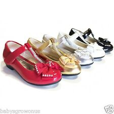 GIRL'S  Dress Shoes With Bow Attachment On The Top, SIZE UK 7- UK 3 B.N