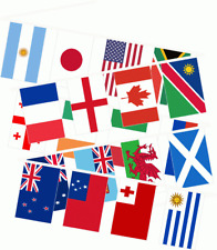 *** SALE 80% OFF *** 33FT RUGBY WORLD CUP 2015 FABRIC BUNTING XL FLAGS