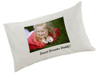 Personalised Pillow Case White Any Image, Any Text, or Image and text