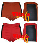 Womens GirlsSide PVC Panels High Waisted Hotpants Ladies Summer Mini Shorts