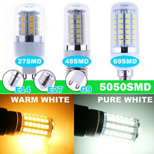 Bombillas 4W 6W 8W E27 E14 G9 SMD LED Warm Cool White Lamp Bulb Corn Spot Lights