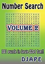 Number Search : 101 Puzzle in Large 22pt Font! by Djape (2014, Paperback,...