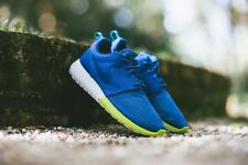 Nike Roshe Run Rosherun Sneakers New, Military Blue / Turbo Green 511881-400