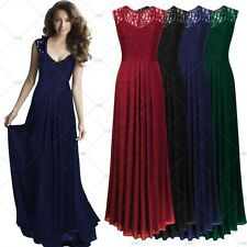 Women Long Chiffon Wedding Evening Formal Party Ball Gown Prom Bridesmaid Dress