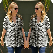 New Fashion Women's Loose Short Sleeve Summer Casual Blouse Shirt Tops&Blouse