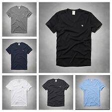 New NWT Abercrombie A&F by Hollister Men's V Neck  Tee Shirt Muscle Fit S M L XL