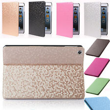 New Bling Diamond PU Leather Smart Stander Case Cover for ipad 234 5 6 air mini