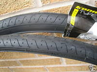 Pair of mountain bike cycle tyres 26 x 1.5 slick MTB Punture Protect + 2  Tubes