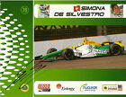 2012 SIMONA DE SILVESTRO signed INDIANAPOLIS 500 PHOTO CARD POSTCARD INDY CAR wC