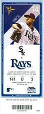 2012 Rays vs White Sox Ticket: Luke Scott and Carlos Pena homered for the Rays
