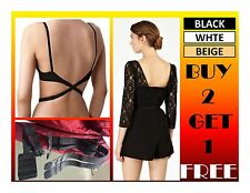 LOW BACK BACKLESS BRA STRAP CONVERTER BRA EXTENDER - Buy 2 Get 1 FREE offer