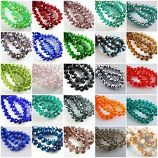 Wholesale Glass Crystal Faceted Rondelle Spacer Beads 3mm/4mm/6mm/8mm Findings