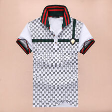 2015 Famous fashion Design Men's print Polo Shirts cotton short sleeve TShirts