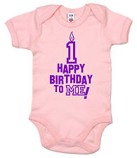 """Happy Birthday to Me"" First 1st One 1 year old Baby Boy Girl Bodysuit Vest Gift"