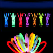 "Wholesale 8"" Glow Light Sticks Bracelet Necklace Light Multi Colorful Neon Party"