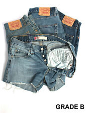 Vintage LEVI Denim Ladies Shorts High Waisted Hotpants 6 8 10 12 14 16 18 GradeB