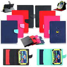 "For 7"" 8"" 9"" 10"" 10.1 Tablet 360 Universal Wallet Folio Leather Stand Case Cover"