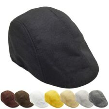 Mens Flat Cap Baker Boy Cap Peaked NewsBoy Country Outdoors Golf Boy Hat UK Z19