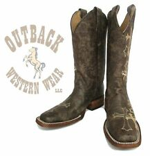 Circle G by Corral Women's Brown Cross Square Toe Cowboy Boots L5042