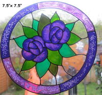 BEA'S LILAC & PURPLE FLOWER WINDOW CLINGS MIRROR TILE CONSERVATORY DECORATIONS