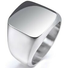 SZ 5-15 Men Stainless Steel Signet Biker Ring Cocktail Punk Polish Shield School