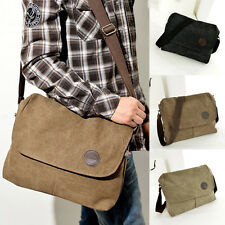 Men Fashion Canvas Vintage School Shoulder Military Messenger Travel Satchel Bag