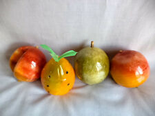 "Large 3"" Italian Marble Stone Fruit Handcrafted Plum Nectarine Pineapple Peach"