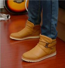 Mens waterproof winter Warm Fur snow Ankle Boots loafer work casual Shoes