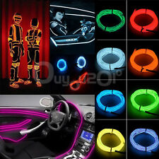 Flessibile EL Wire Neon Light 1M/2M/3M/5M Dance Bar Xmas Party Decor +Controller