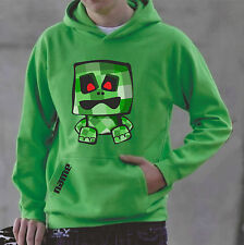Kids keep on creepin' hoodie, 'make it mine, craft your own name' , lime green