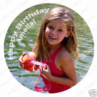 """OWN PERSONALISED PHOTO Edible Rice/Wafer Paper Topper 7.5"""""""