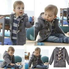 Baby Boy Warm Winter Horn Button Outerwear Toddler Coat Snowsuit Jacket Hooded