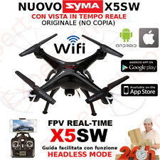 Drone SYMA X5SW FVP HEADLESS android apple smartphone drone WiFi foto video HD