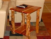 Side Table - Rustic Red Cedar Hancrafted Log Furniture - AWESOME!!!