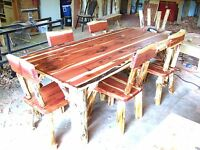 Dining Room Set- Rustic Red Cedar Hancrafted Log Furniture - AWESOME!!!