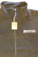 USPS POSTAL DUNBROOKE BLACK FLEECE JACKET EMBROIDERED POSTAL LOGO ON CREST S-3X