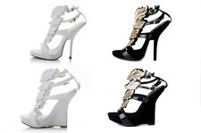 2015 Hotsale Gold Leaf / Wings women's sandal High-heeled Summer Sexy Shoes