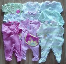 Lots of Girl's Size 3-6 Months One Piece Footed Pajama Sleeper Outfit Carter's +