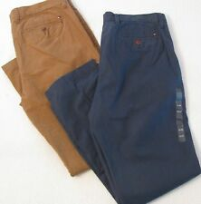CHOICE NWT $59 Men's Tommy Hilfiger Custom Fit Chino Pants Size 32-36 32 inseam